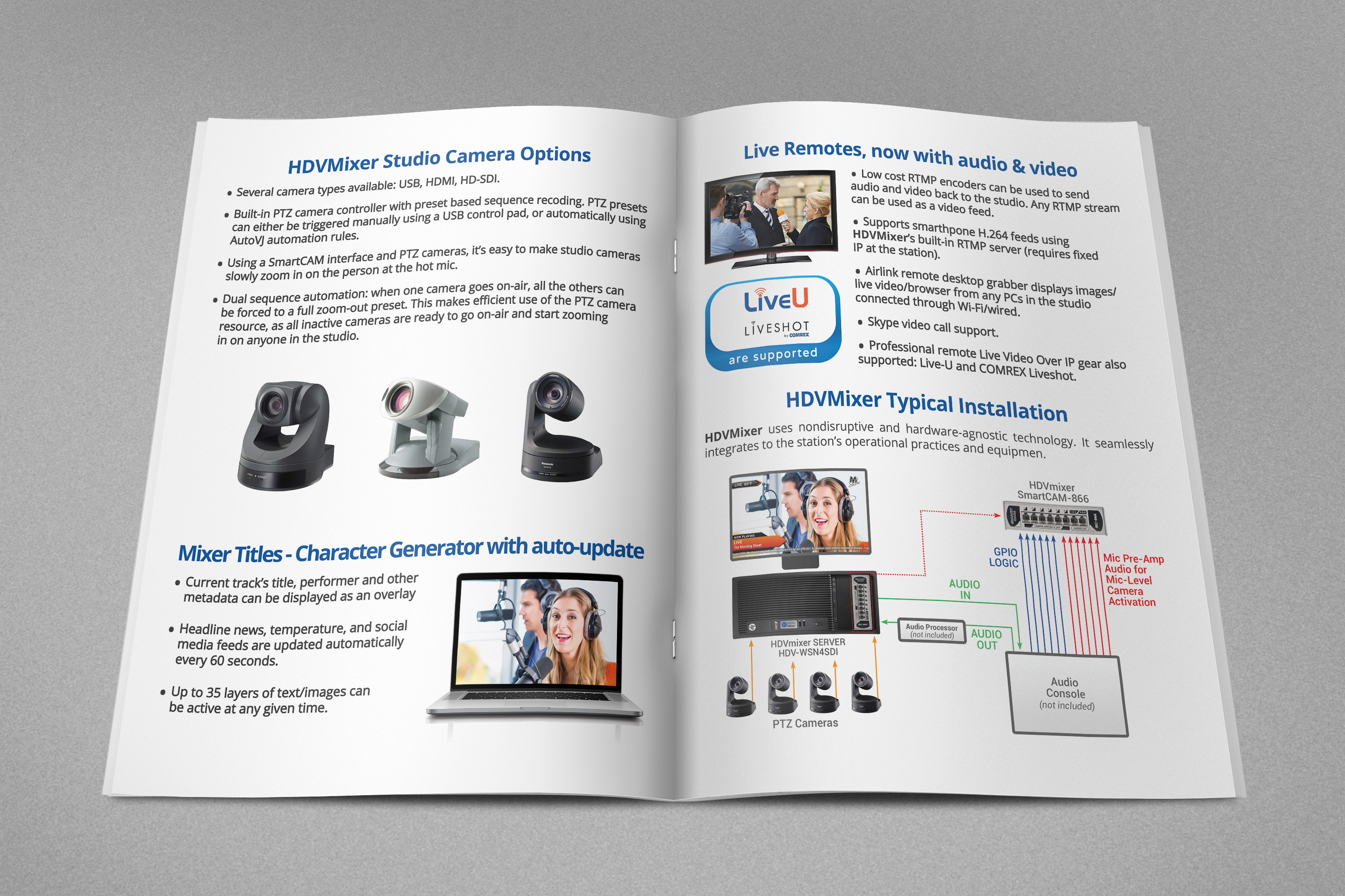 Change aesthetics and layout for HDVMixer brochure - M.O.Z.G Studio